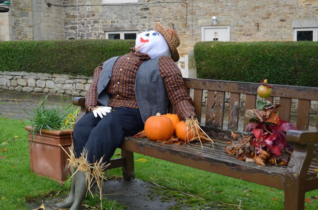SEAT TREAT: A traditional scarecrow