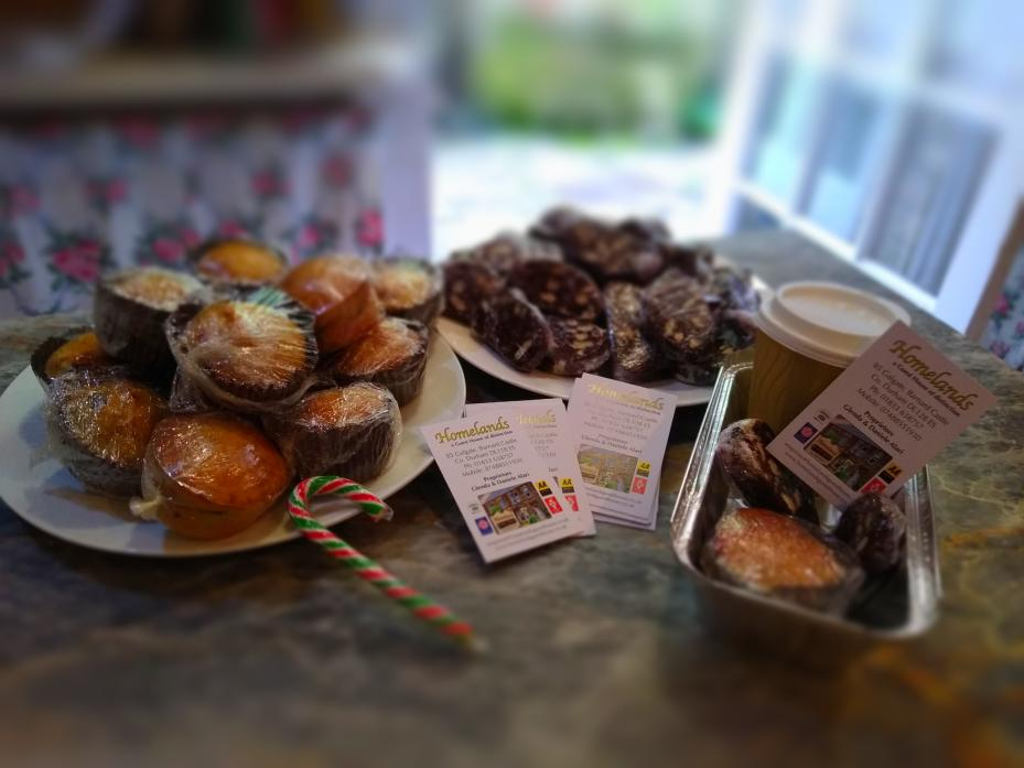 THANK YOU: Special treats were given to businesses in Barney