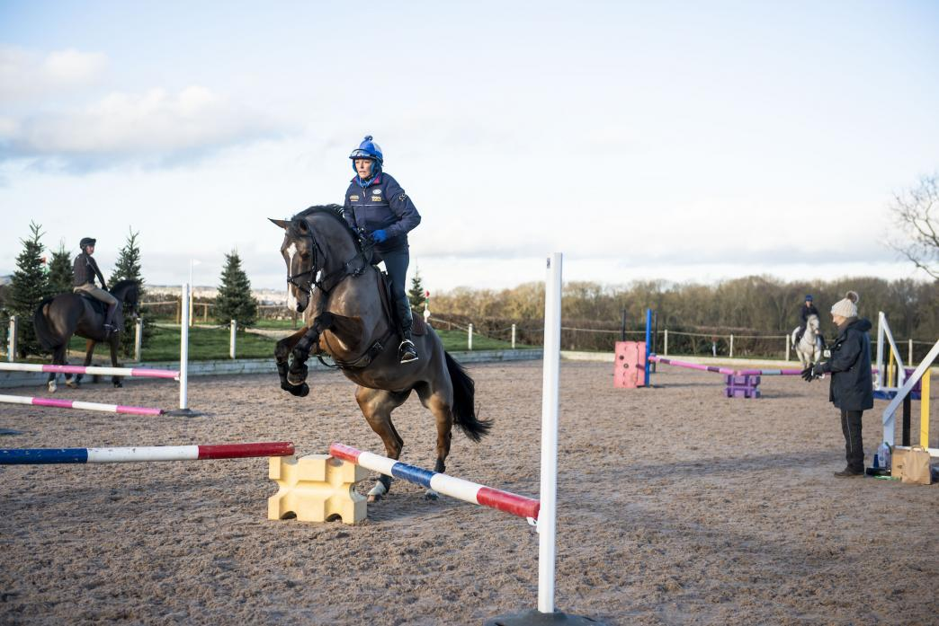 IMPRESSED: Facilities at Richmond Equestrian Centre were given the thumbs up by Lucinda Green