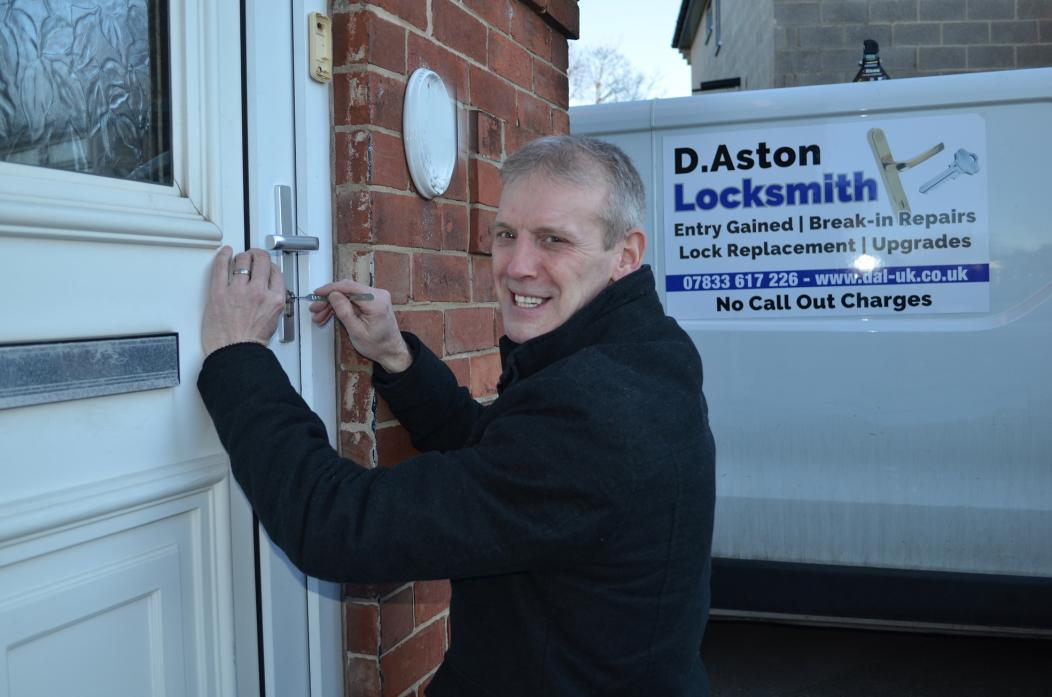 UNLOCKING THE FUTURE: Darryl Aston hopes his new locksmith business is the key to future success
