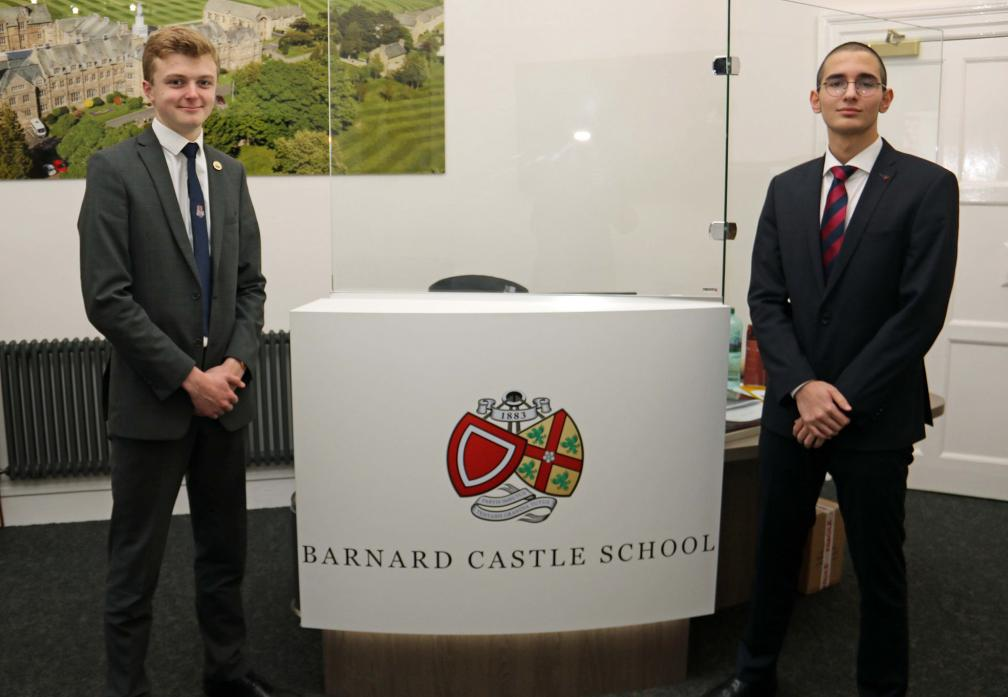 POINTS WELL MADE: Matthew Forster and Veto Vepkhvadze who took first prize in the Debating Matters competition