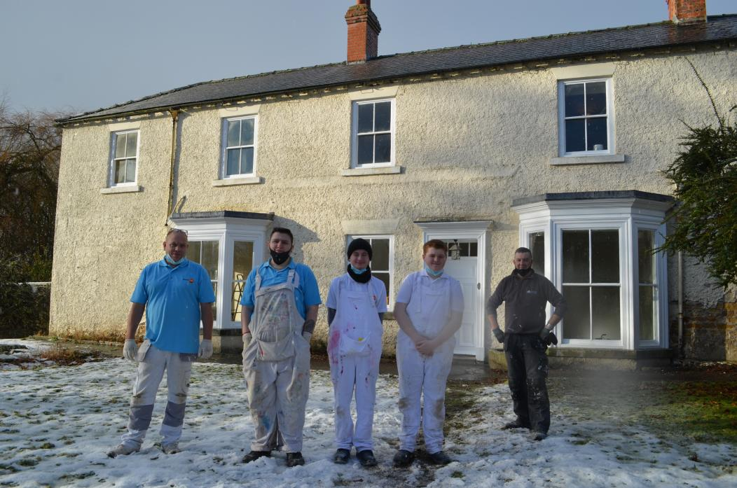 TOPJOB: Raff Yard House, at Raby Castle, has been transformed by a team of trainee decorators with Trades4Care