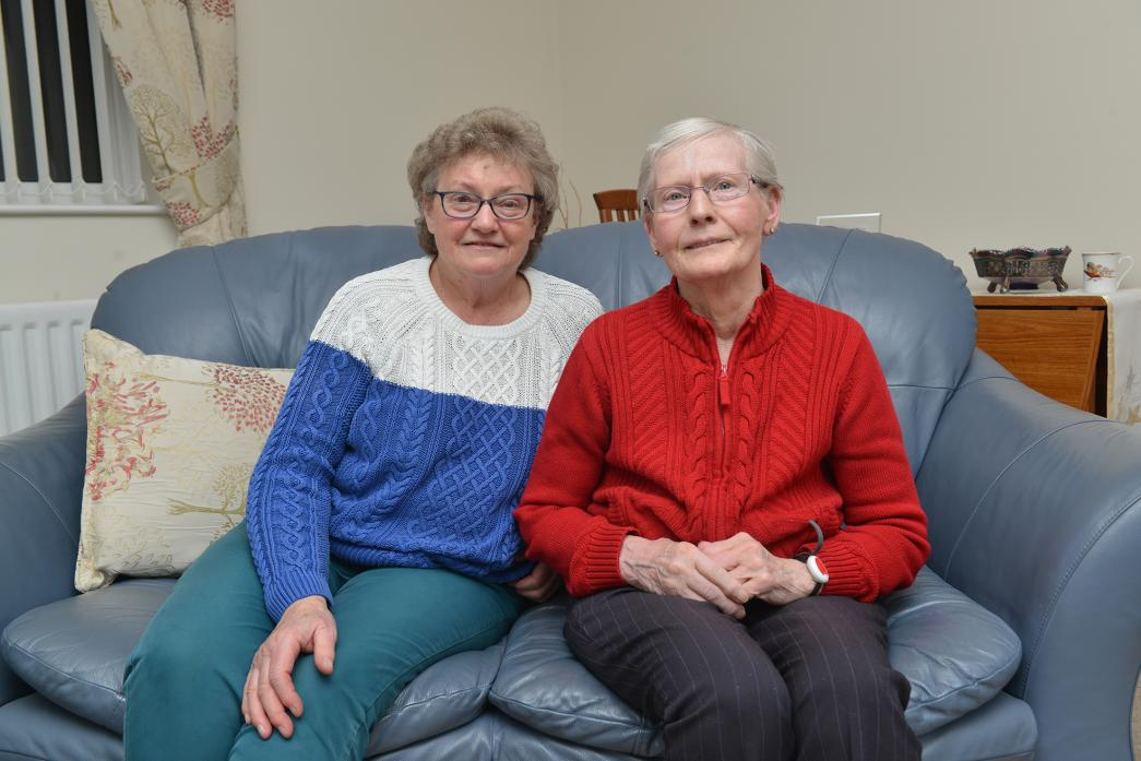 COMMUNITY SERVICE: Sisters Audrey Bainbridge and Dorothy Dowson are closing the village shop that their family has run for almost 150 years