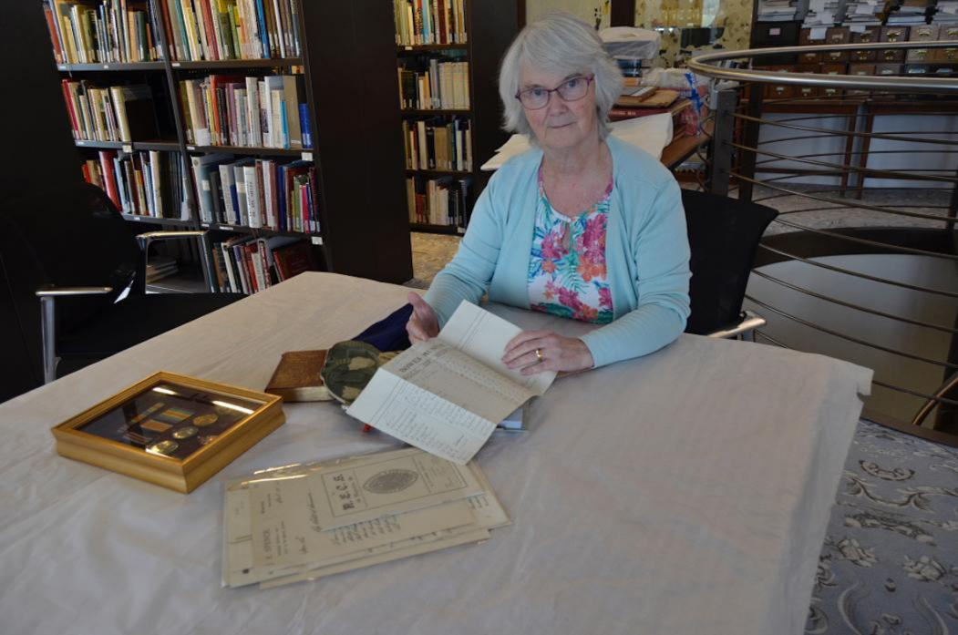 UNIQUE RECORD: Dr Judith Phillips, honorary archivist at The Bowes Museum
