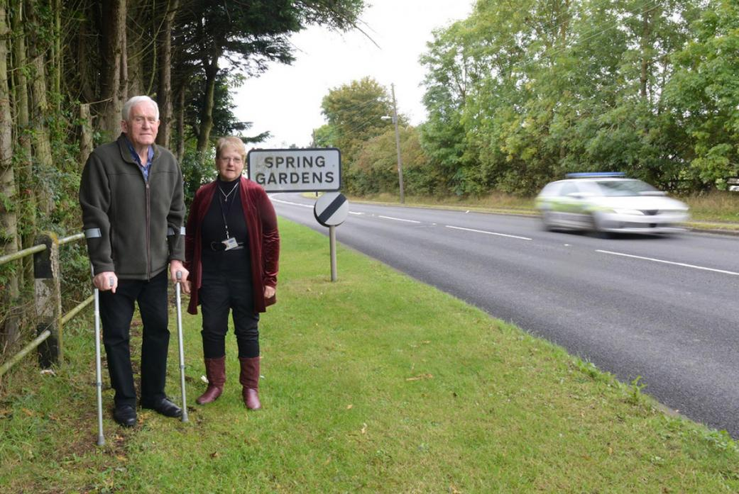 ROAD TO SUCCESS: Evenwood ward councillors Stephen Hugill and Heather Smith have made road safety a priority, jointly contributing funds to a number of safety schemes