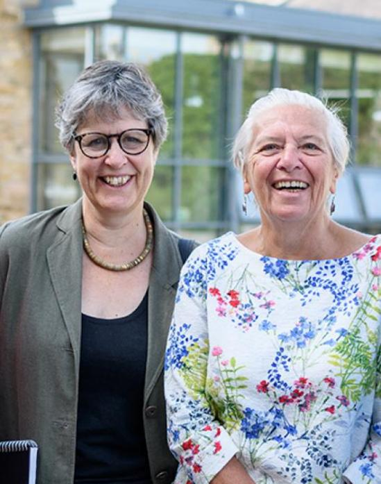 BATTLING BACK: Left, Jill Cole, director of Northern Heartlands and Shelagh Avery, chairwoman of trustees at The Witham