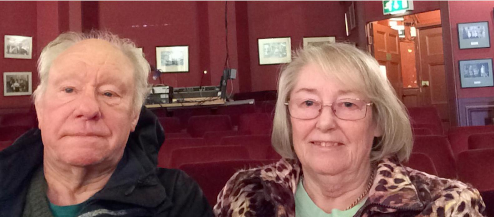 SHOW WILL GO ON: Above, longstanding members of Gainford Drama Club John and Ronnie Lowery