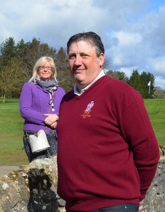 BUSY YEAR AHEAD: Barnard Castle Golf Club's new captains Janet Graham and Colin MacLeod