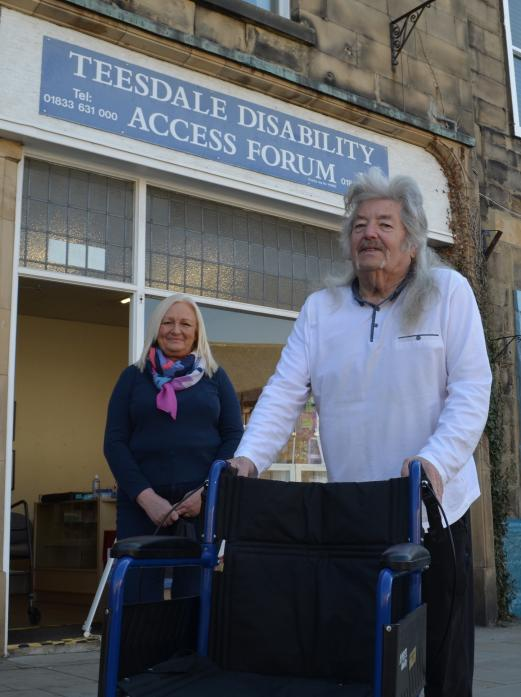 END OF AN ERA: Anne Henderson and Neville Singleton outside the base in Barnard Castle