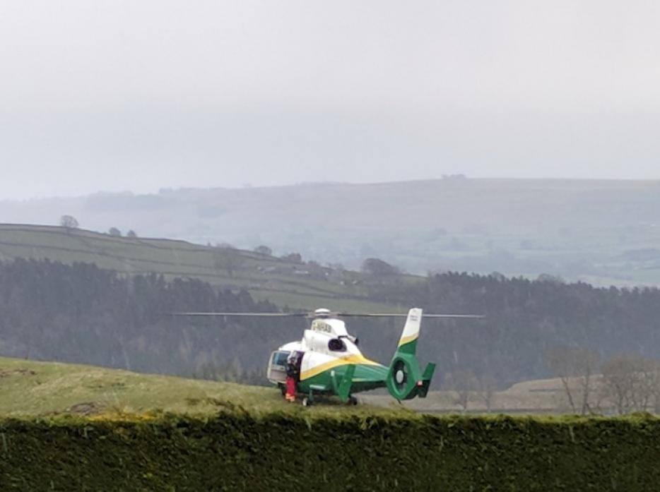The air ambulance arrives