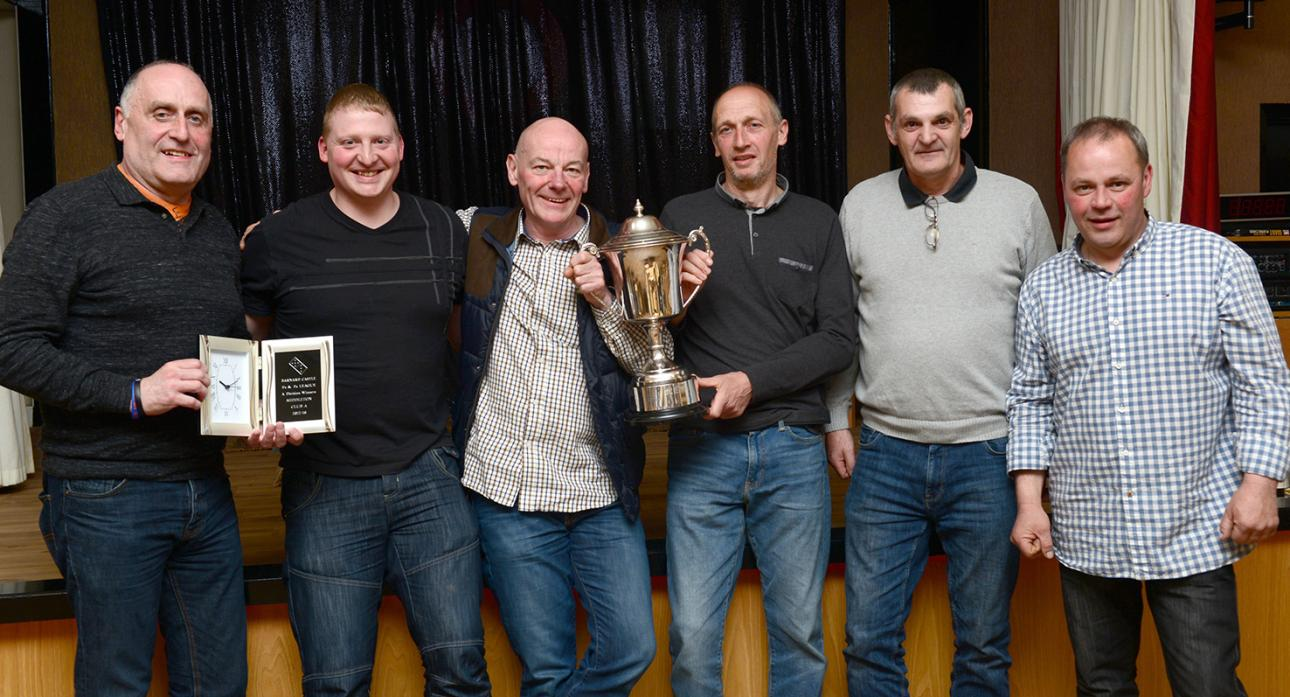 WE ARE THE CHAMPIONS: Division A winners from Middleton Club were Ali Peart, Ian Scott, Julian Robinson, Malcolm Makepeace, Malcolm Nixon and Mark Wallace