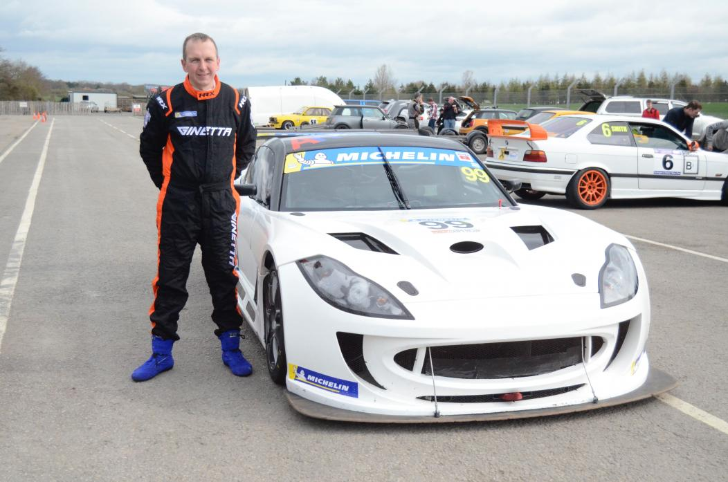 LIKE LIGHTNING: Carl Shield, of Middleton Coal Depot, at Croft Circuit
