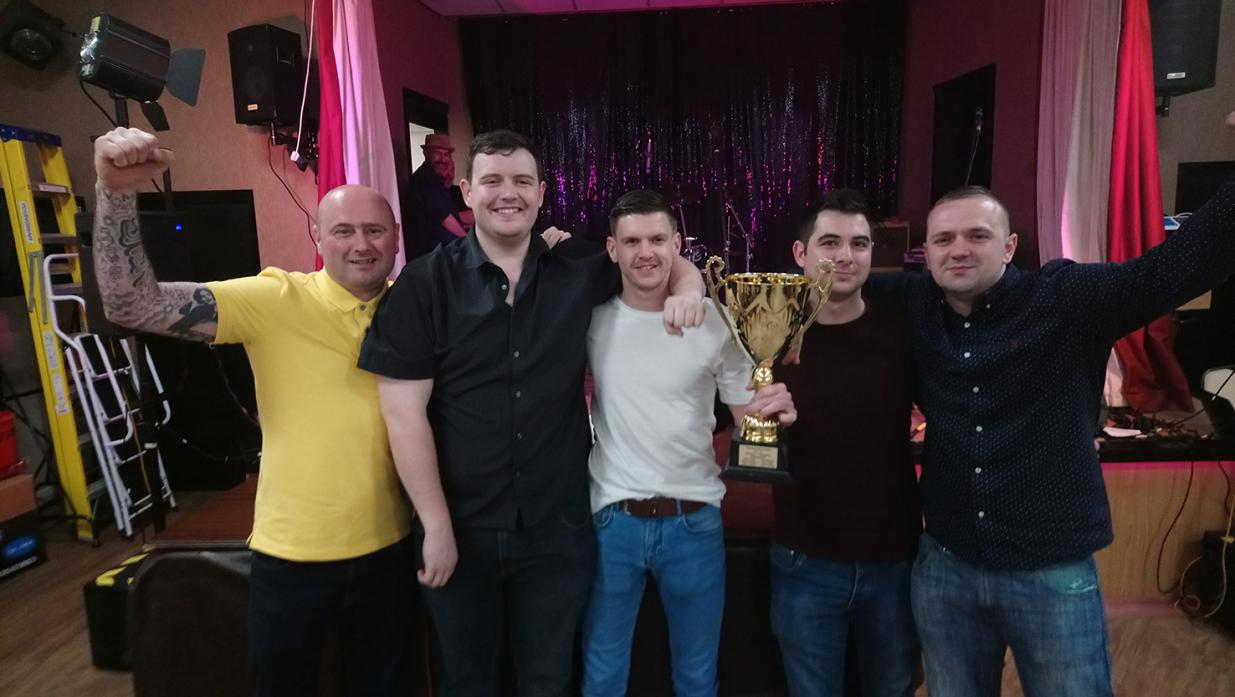 SIMPLY THE BEST: First division champions Diamond Inn. From left John Williams, Mark Humble, Gary Close (captain), Dale Brydon, and James Teasdale. Not pictured are Scott Parkin, Tom Stobart and Paul Dunn