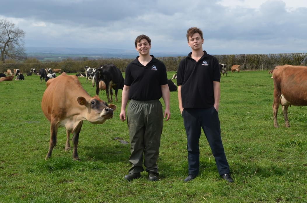 GREAT GRASS: Brothers Tim and Charlie Archer are looking forward to welcoming delegates to their home farm near Walworth this summer as part of the 2018 British Grassland Society summer meeting