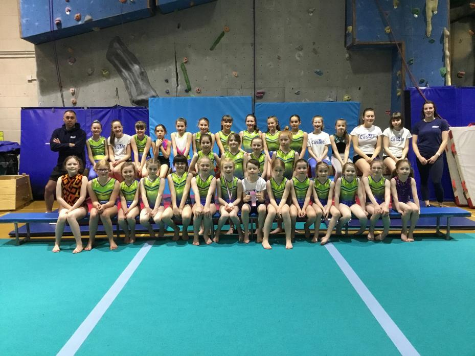 GOOD SHOW: The Barnard Castle gymnasts who competed at Gateshead