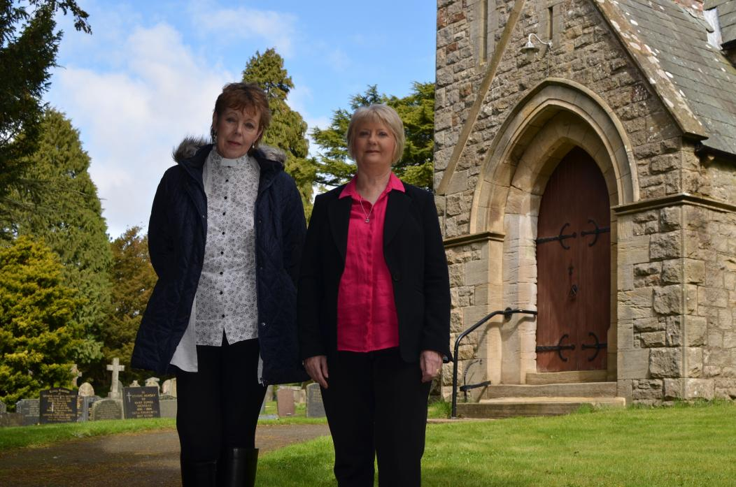 DIVINE INSPIRATION: Revd Alison Wallbank pictured with Durham Diocese Parochial Church Council secretary Jennifer Ribbands
