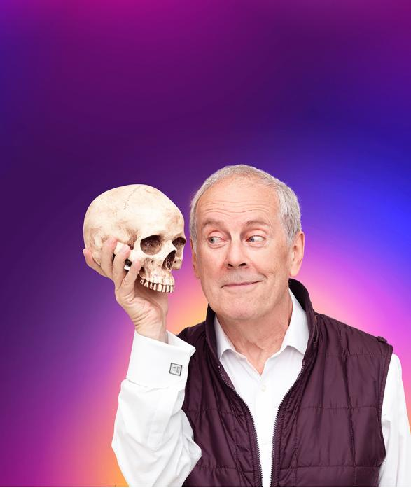 LAUGHTER ALL THE WAY: Gyles Brandreth, left, will perform for a third time at The Witham.