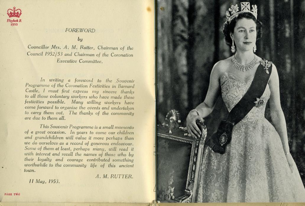 CELEBRATION: The booklet printed by the Mercury as part of the coronation in 1953