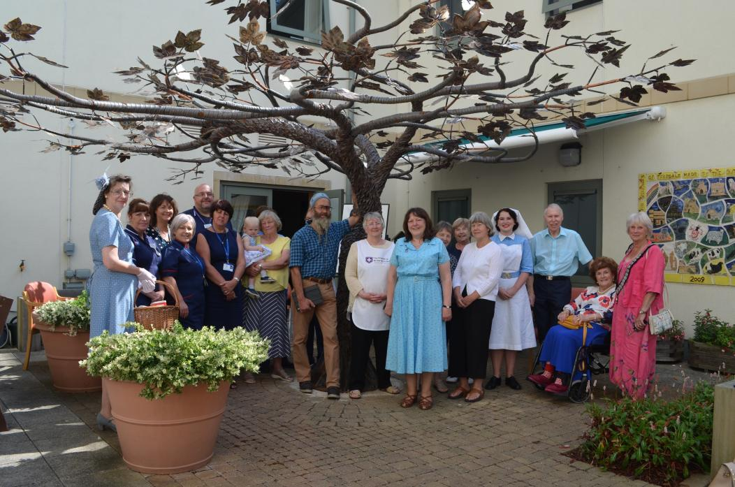 TREE SCULPTURE:  Staff, patients, volunteers and visitors celebrated the 70th anniversary of the NHS