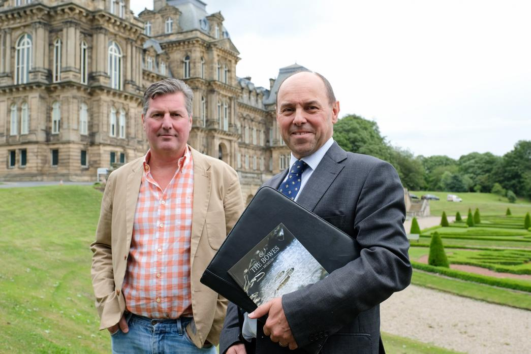 WORKING TOGETHER: Left, Adrian Jenkins, director at The Bowes Museum with Tony Luckett, managing partner at Clive Owen LLP