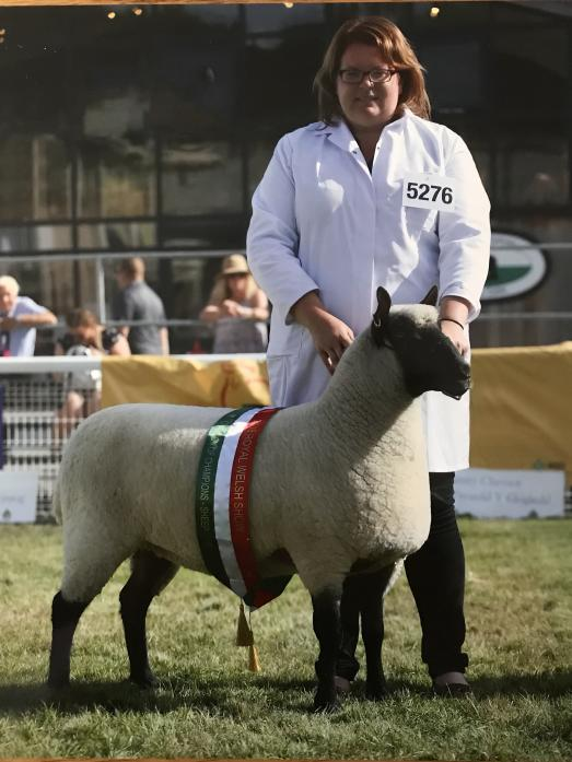 CHAMPION: Anna Pennell with her winning sheep                                  Picture: 1st Class images