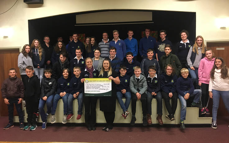 Staindrop Young Farmers raise £1,500 for Great North Air Ambulance Service