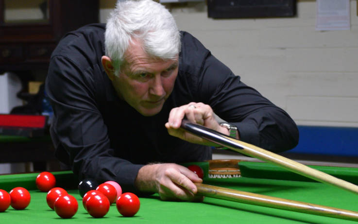 Charles cues up a third Ken Coates Trophy snooker win