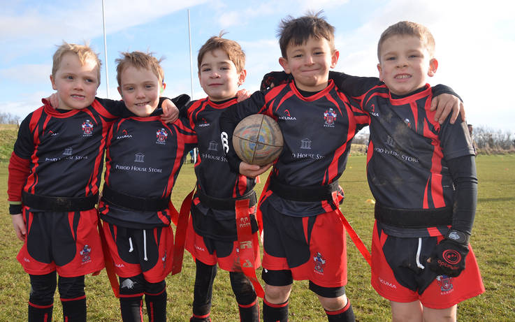Young Barnard castle RUFC players ready for action in new kit
