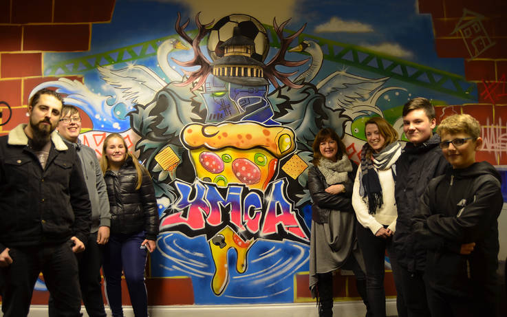 YMCA's Barnard Castle mural includes pizza and Market Cross