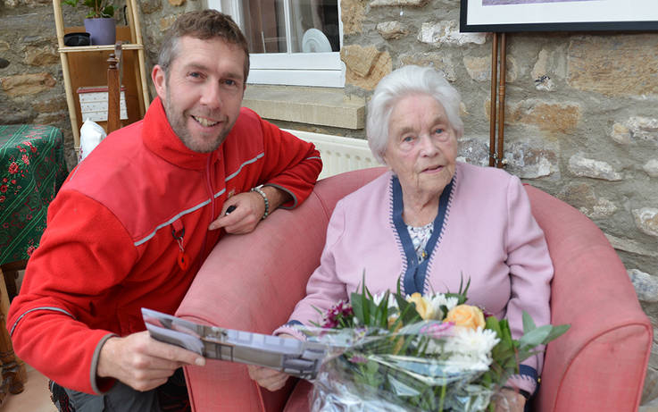 Postie earns praise from 103-year-old Margaret