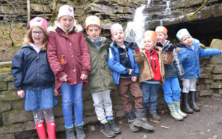 Bowlees Visitors Centre hosts children's snakes and ladders challenge