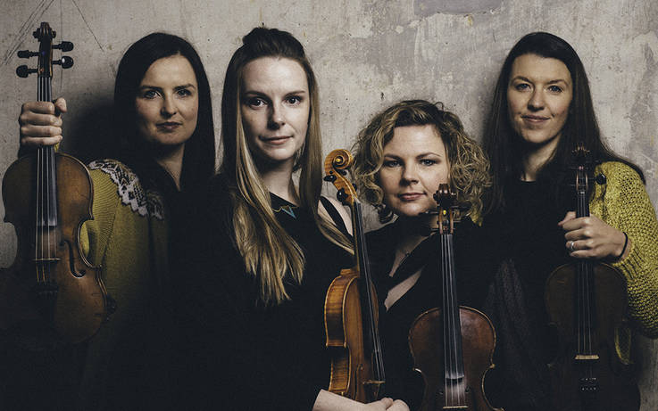 Four fine fiddle players head south to Barney