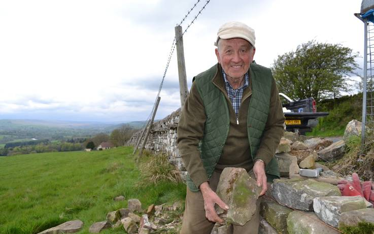 Lewis, 82, enters his eighth decade as a dry stone waller