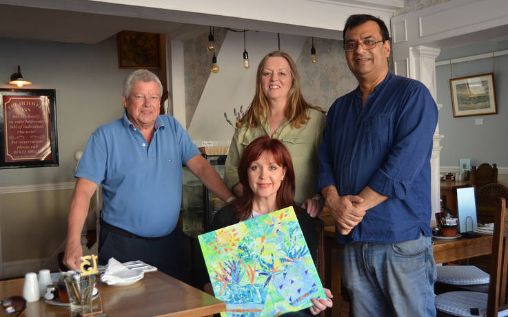 Town inn showcases work by students of  Whorlton artist