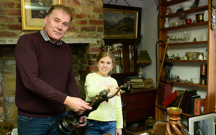 Alastair's place is a popular stop for TV antiques stars