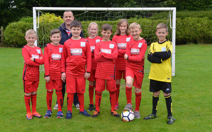 Bowes Hutchinson's team strides in new kit thanks to dad/sponsor
