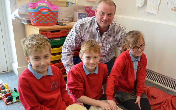 School's no grind for St Mary's RC pupils thanks to farmer's fascinating find