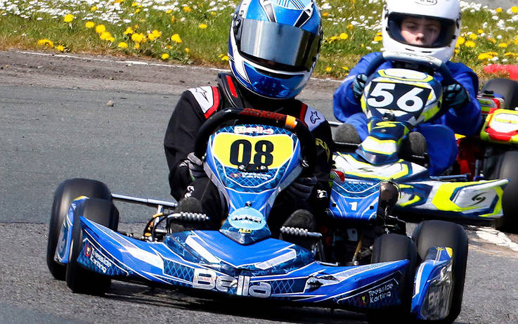 Karting queen Bella races to championship title