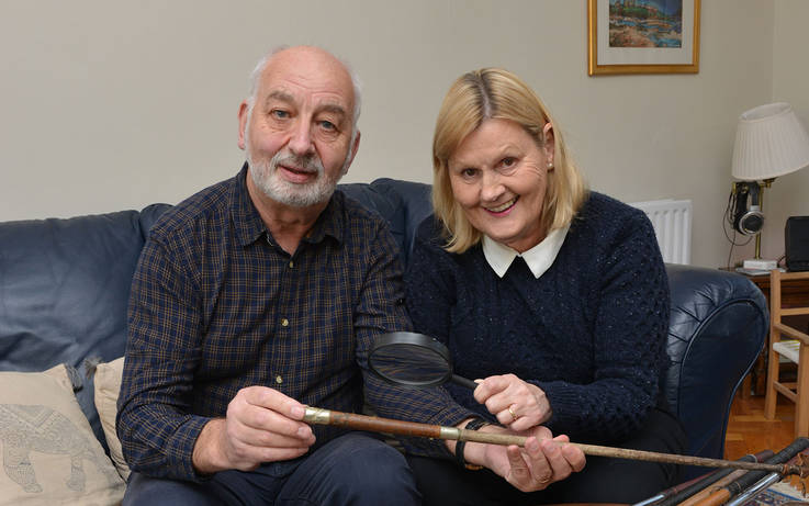 Astley aims to solve mystery  of RAF officer's riding crop