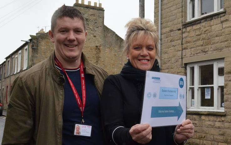 Spreading the word that free advice is on offer in Barnard Castle