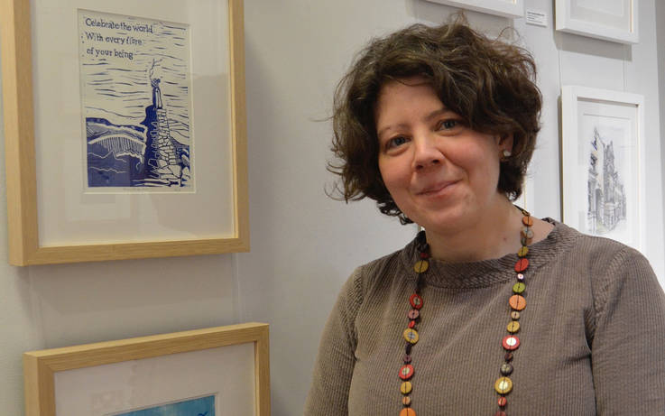 Sarah's drawn to linocuts – but a fan of art in all its forms