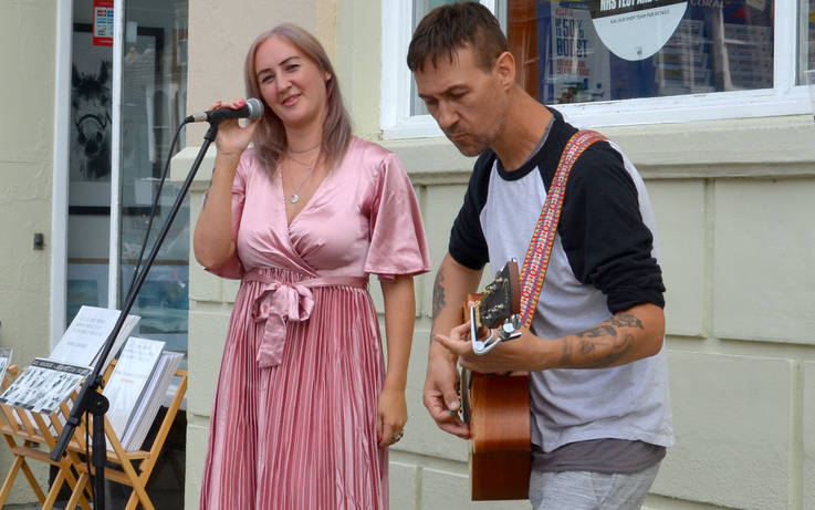 Buskers bring a little live music back to town centre