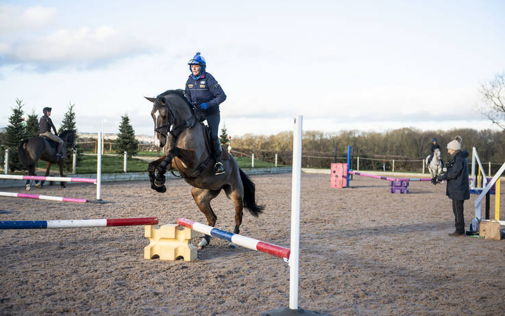 Olympic star's seal of approval for improvements at equestrian centre