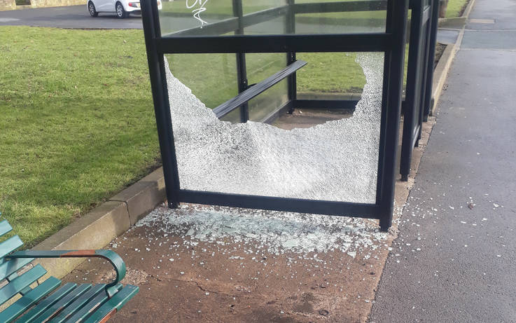 'Bus shelters will stay despite attacks'