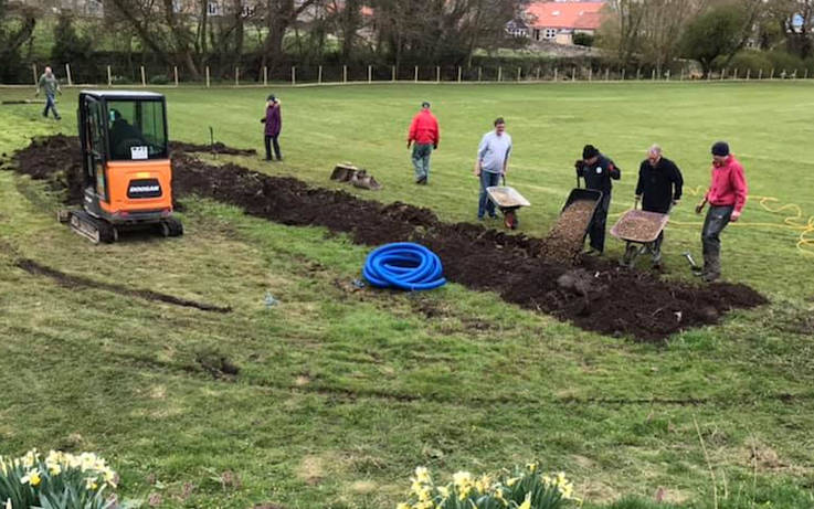 Work to improve picturesque cricket ground at Aldbrough St John