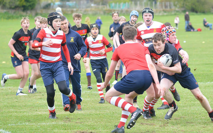 High scoring encounter as contact rugby returns to the Demesnes