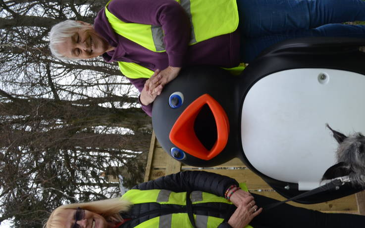Volunteers donate Percy the Penguin to children's play park